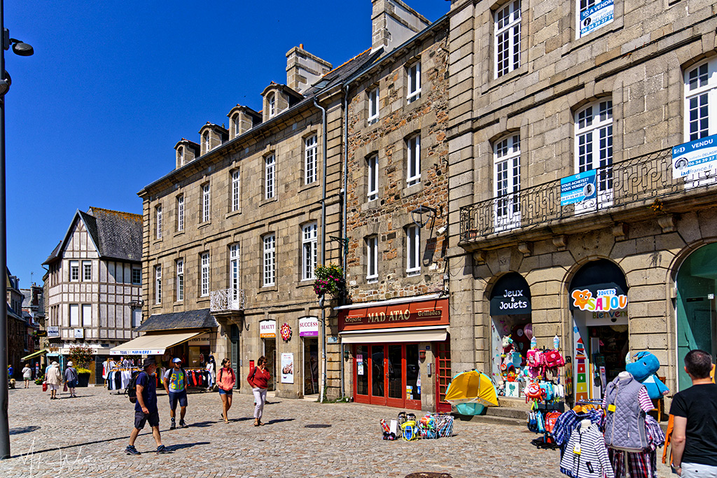 Shops and more shops in Paimpol, Brittany