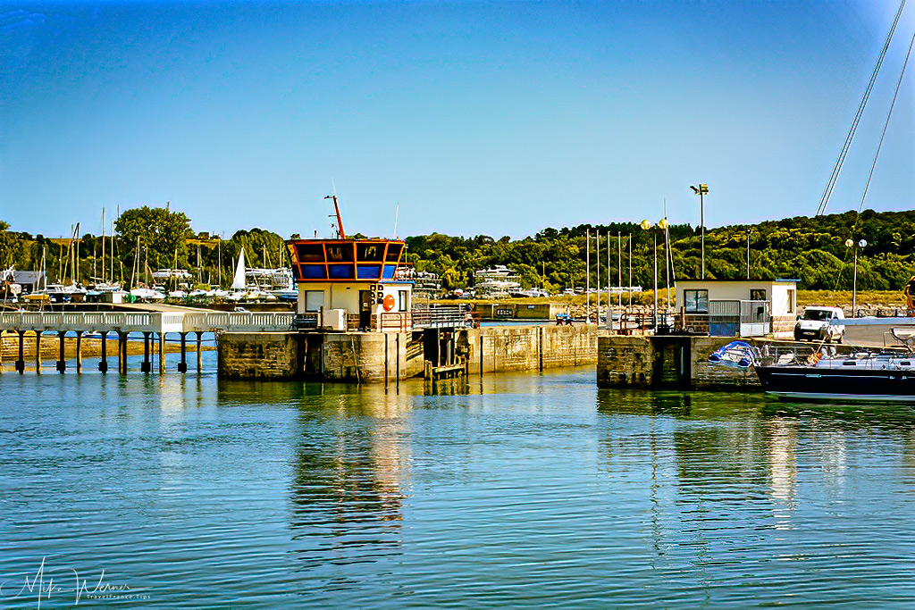 The harbour side of the locks of Paimpol