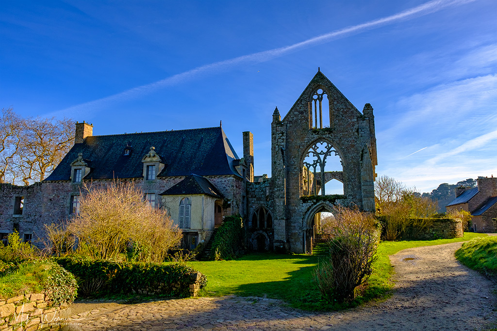 Beauport Abbey at Paimpol, Brittany