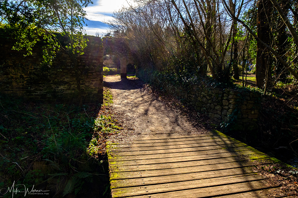 Bridge to the Beauport Abbey in Paimpol, Brittany