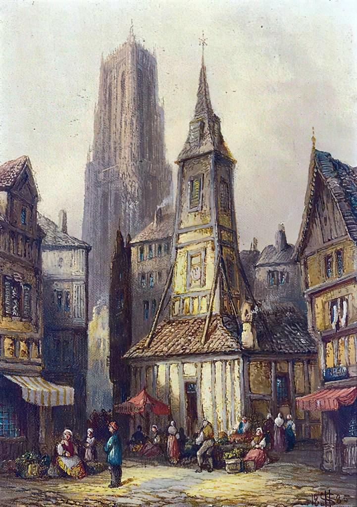 1905 - Henry Thomas Schafer - Street sellers, Caudebec