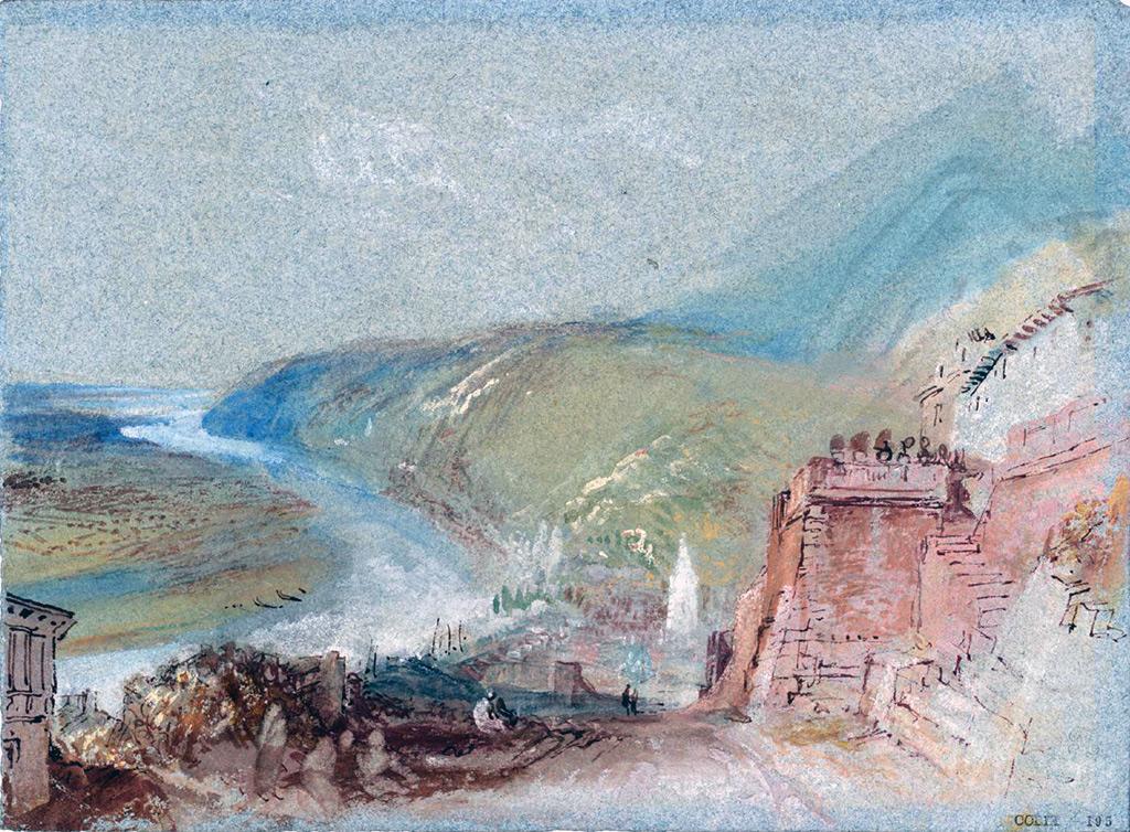 William Turner 1832 - Caudebec-en-Caux from Saint-Clair, Normandy