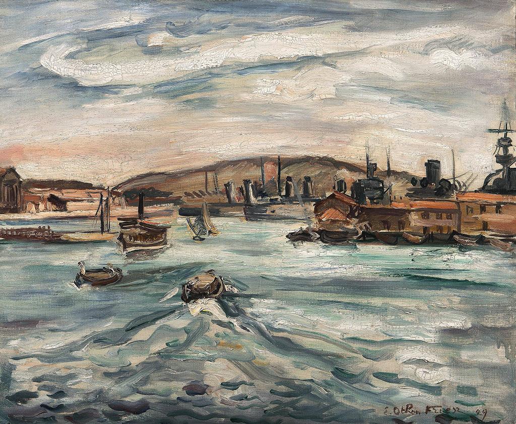 1929 - Othon Friesz - Port of Cherbourg