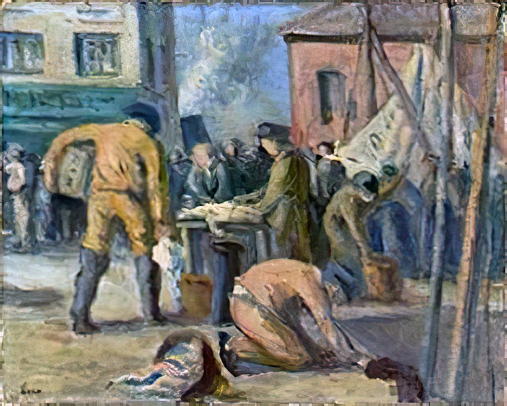 1915 - Maximilien Luce - Le Havre, the fishermen