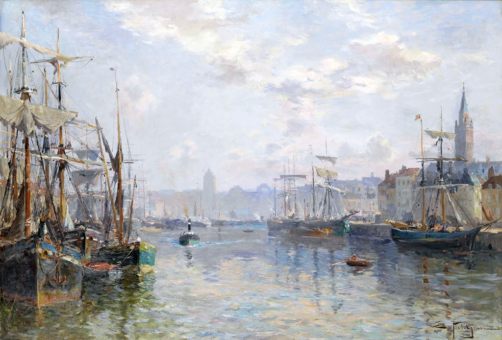 ???? - Edmond Marie Petitjean - View of Le Havre