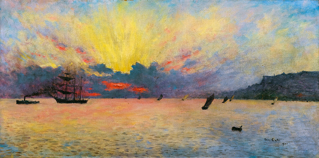1907 - Siebe Johannes Ten Cate - The sea at Sainte-Adresse, sunset