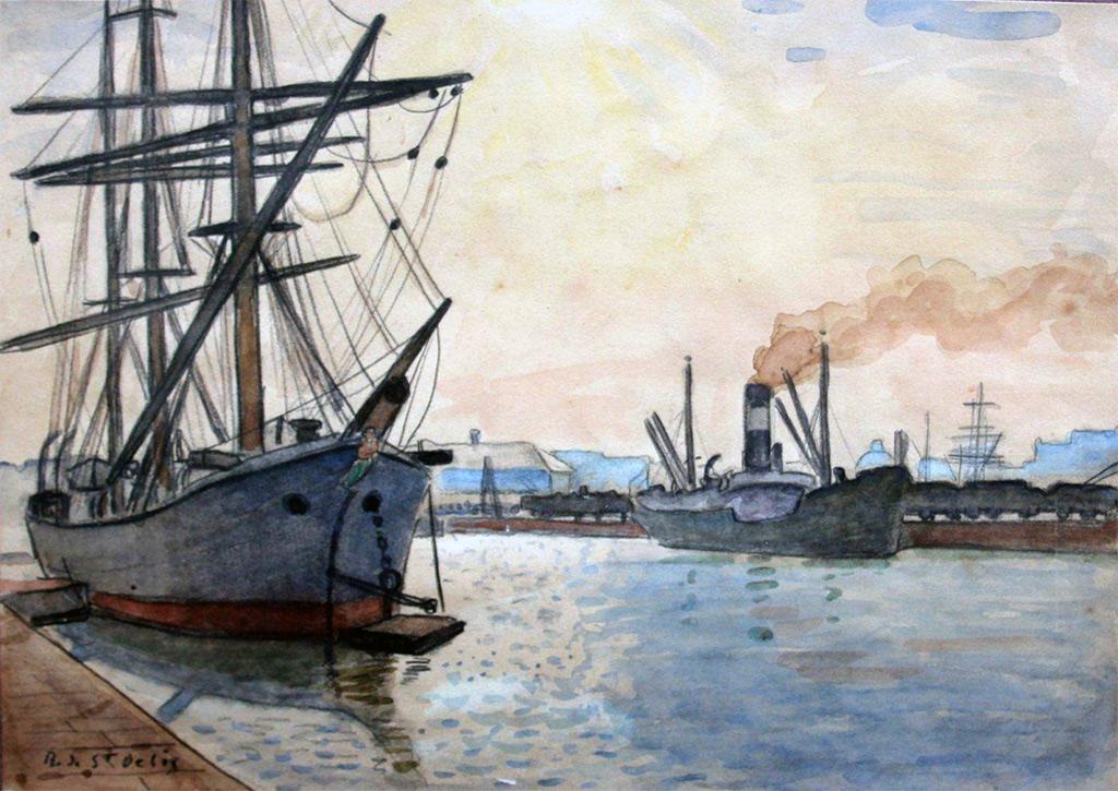 ???? Rene de Saint-Delis - The port of Le Havre