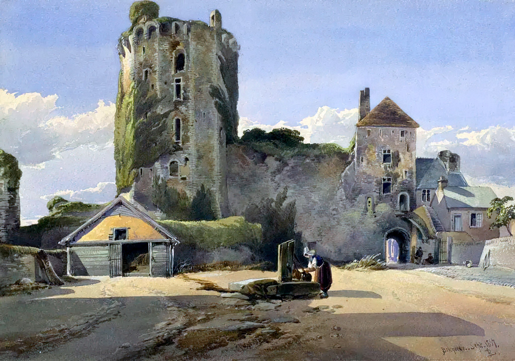 1857 - Richard Leitch - Chateau de Bricquebec, Normandy