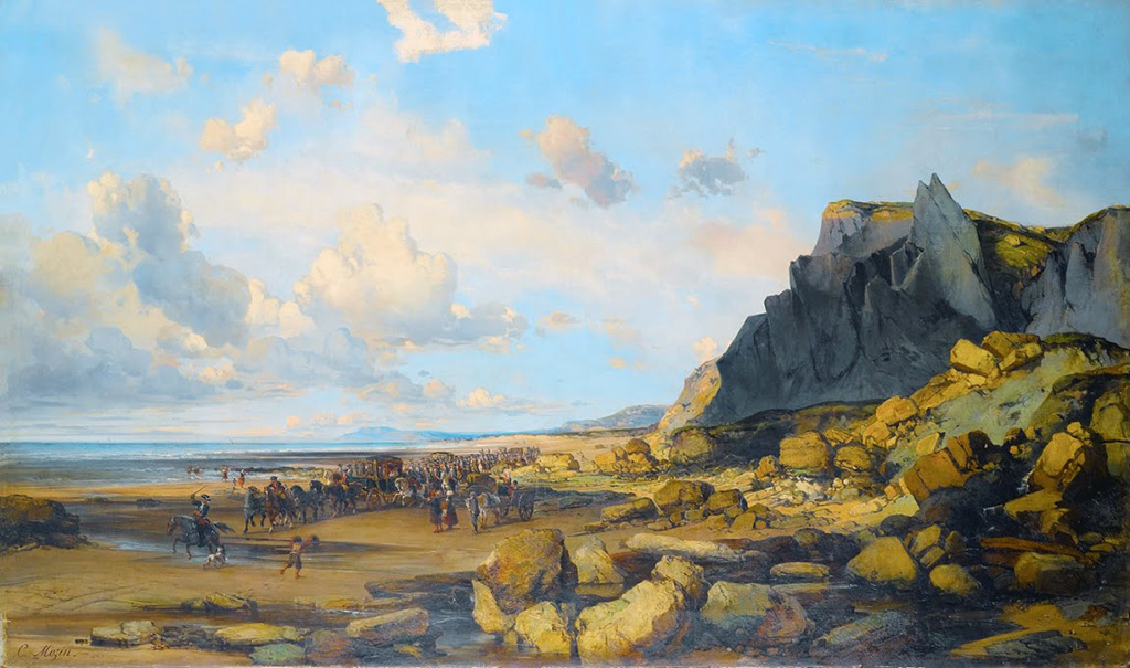 ???? - Charles Louis Mozin - Louis XVI going to Cherbourg