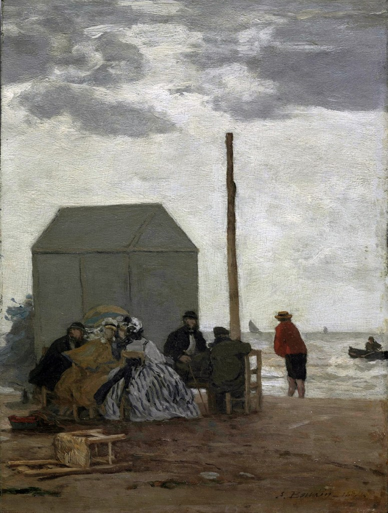 1864 - Eugene-Louis Boudin - The Beach at Deauville