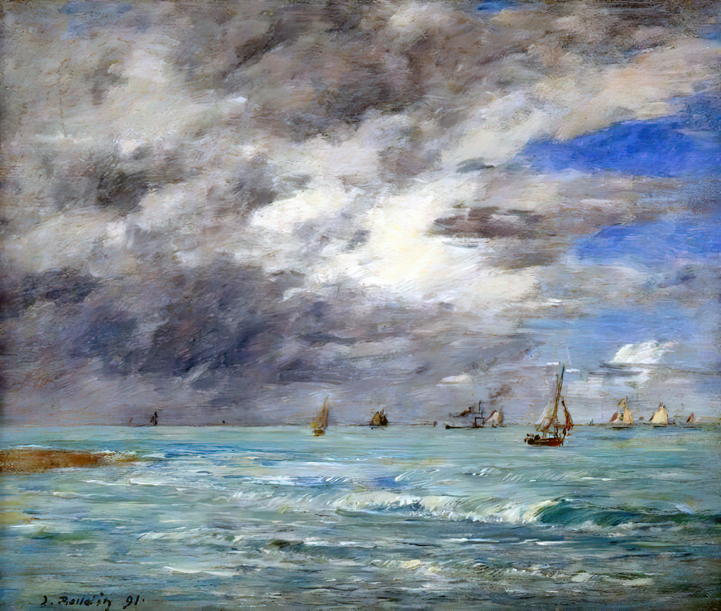 1891 - Eugene-Louis Boudin - The Shore at Deauville