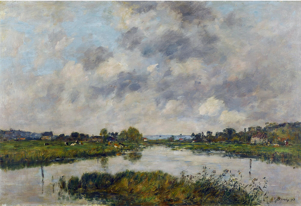 1893 - Eugene-Louis Boudin - The Morte River at Deauville