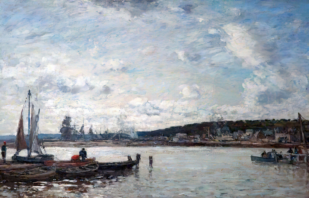 ???? - Eugene-Louis Boudin - The Ferry at Deauville