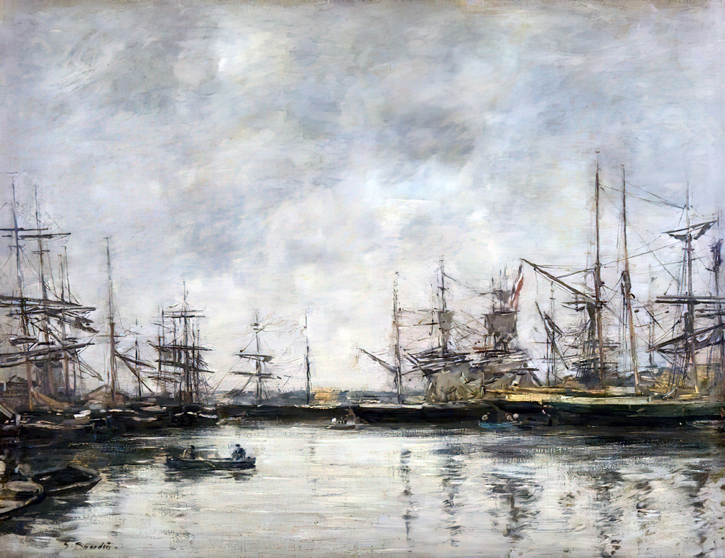???? - Eugene-Louis Boudin - The Port of Deauville