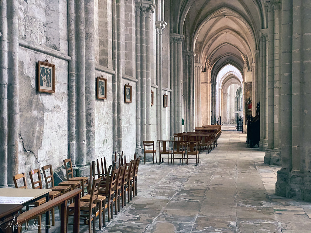 Wide paths out on the outer limits of the nave of the Trinity Abbey