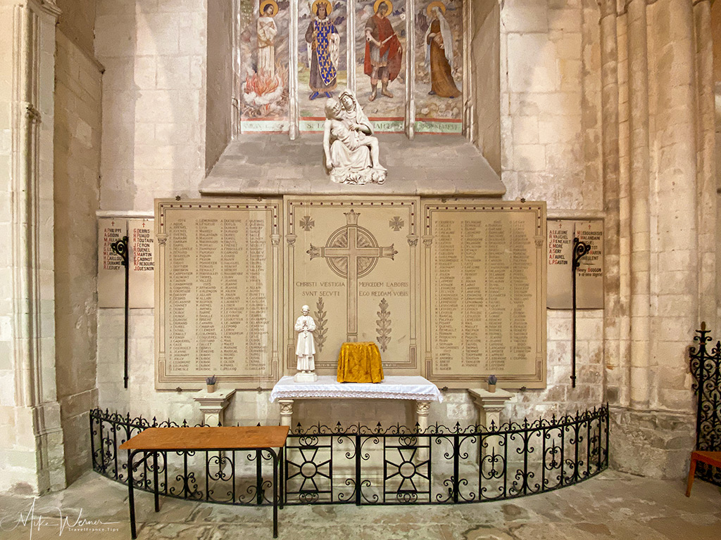 Monument to the dead in the Trinity Abbey of Fecamp