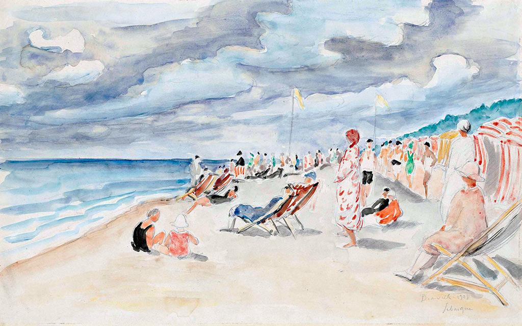 1928 - Lebasque - The Deauville Beach