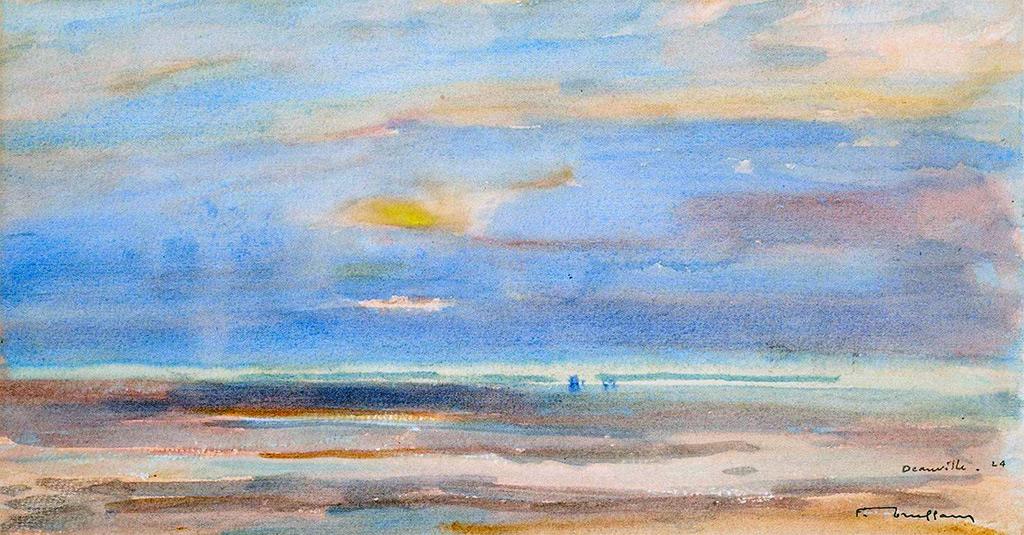 1924 - Truffault - Sunset at Deauville