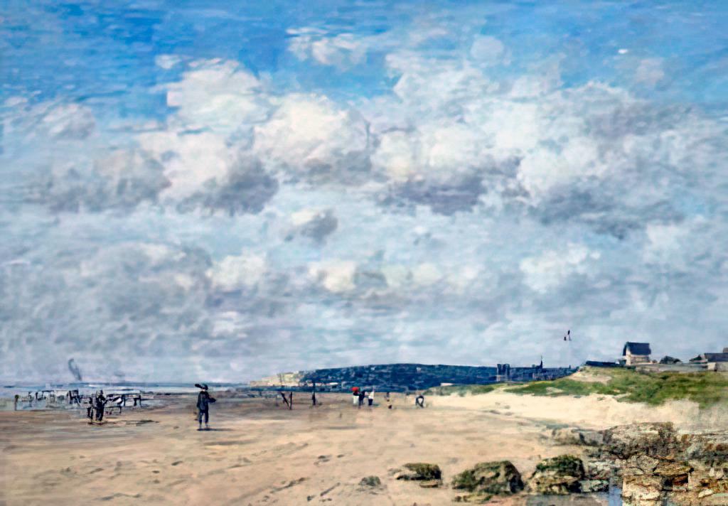 1890 - Eugene Louis Boudin - Benerville. The Beach