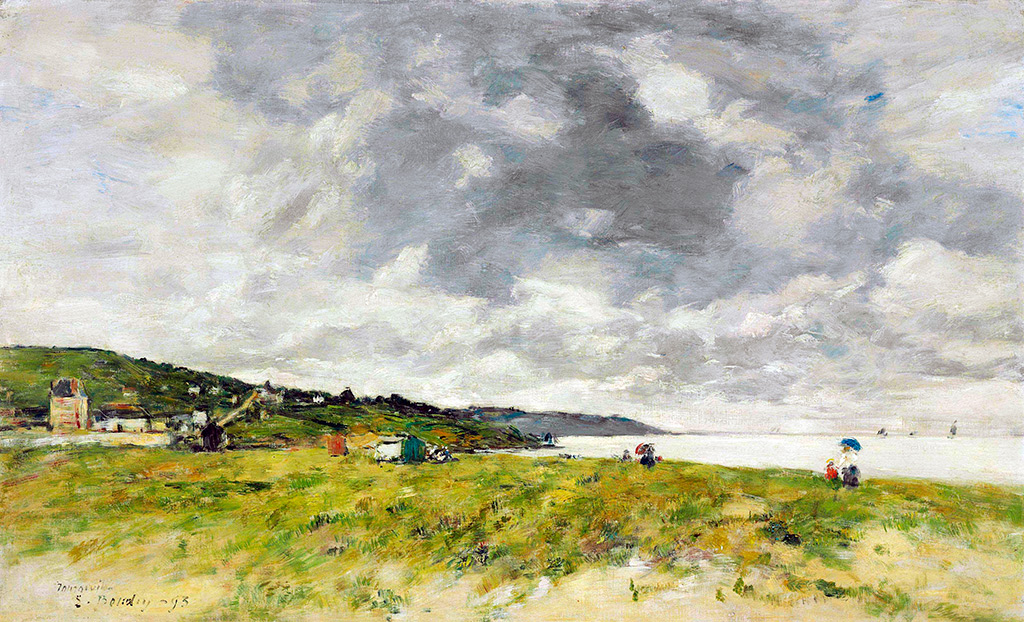1893 - Eugene Louis Boudin - The shore of Tourgeville