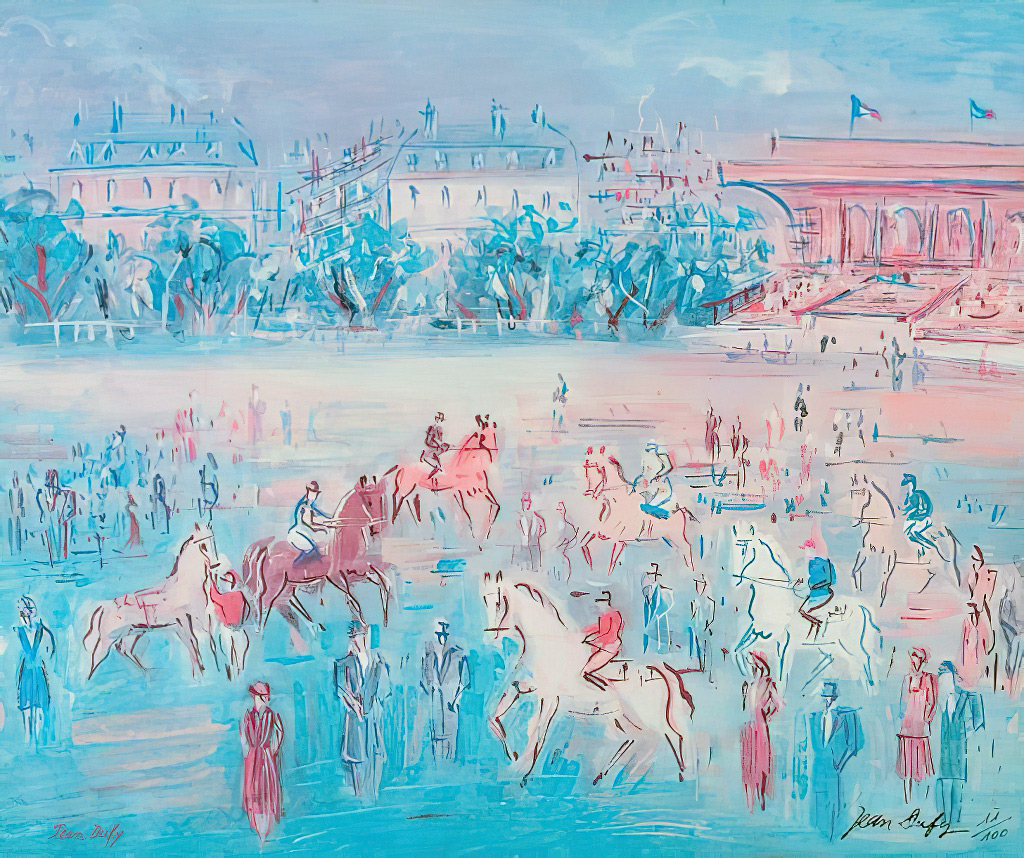1941 Jean Dufy - Race at Deauville