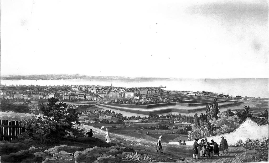 ???? - Ambroise Louis Garneray - 3rd view of Havre taken from the heights of Ingouville
