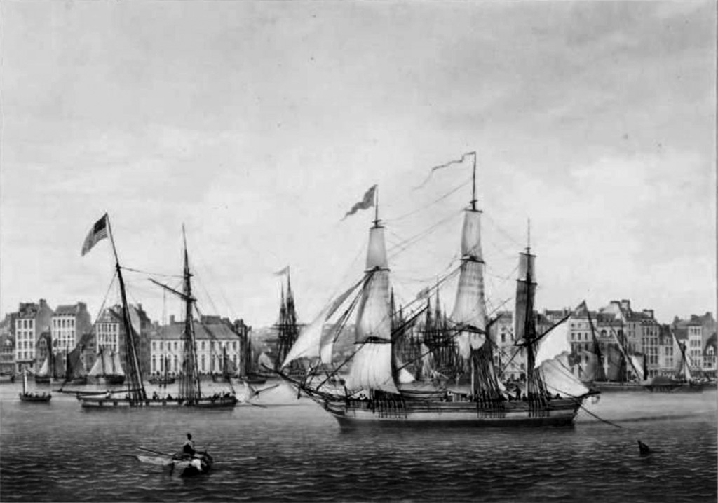 ???? - Ambroise Louis Garneray - View of the city and port of Le Havre, Taken from the Florida Wharf