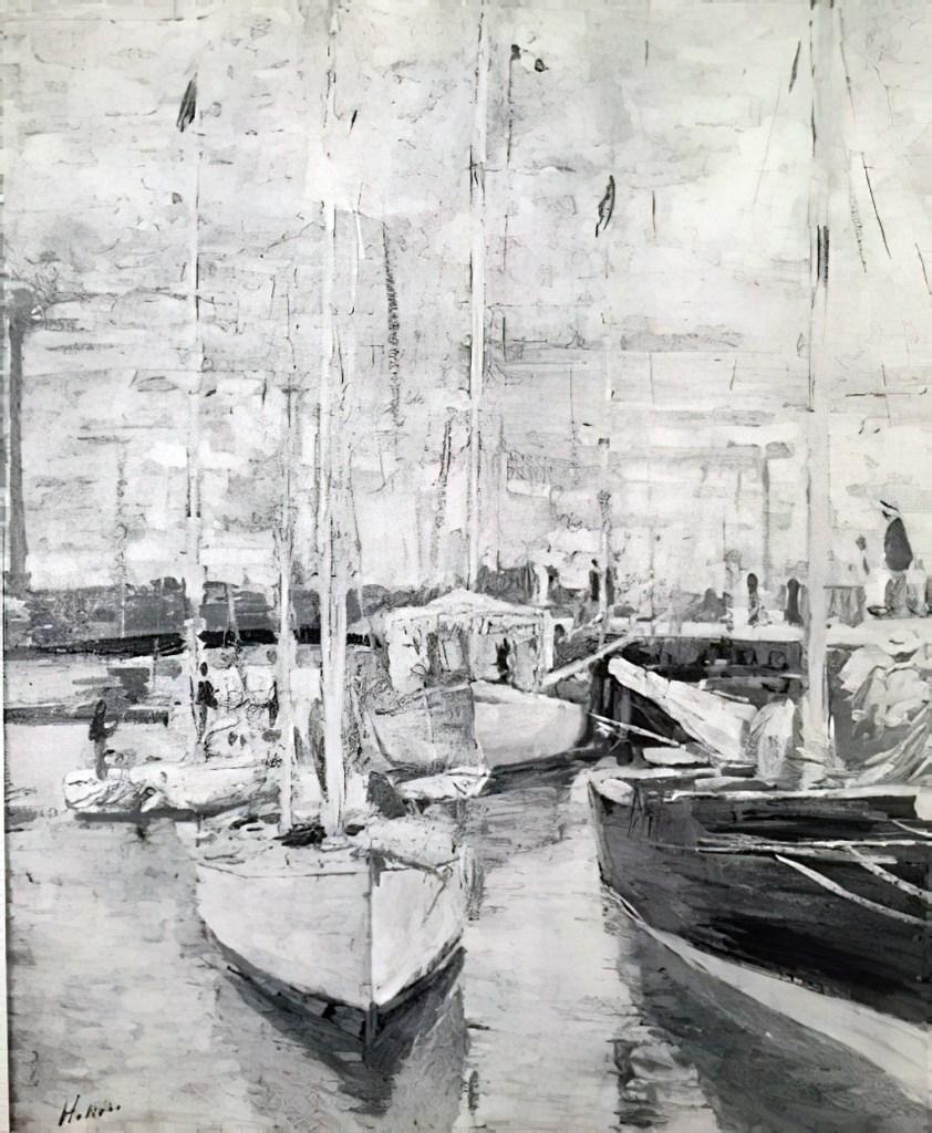 1912 - Paul Cesar Helleu - The Deauville basin