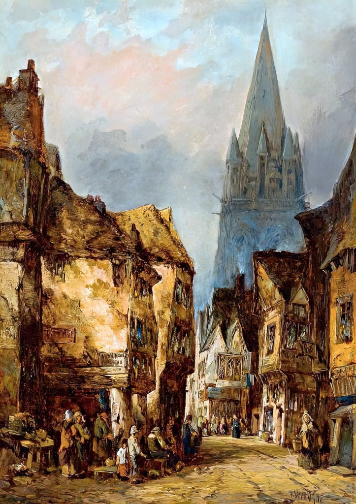 ???? - Alfred Montague - An old street Caen Normandy