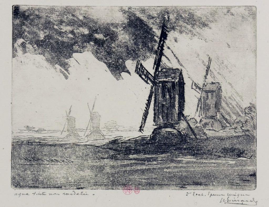 1878 - Henri Guerard - Mill close to Caen