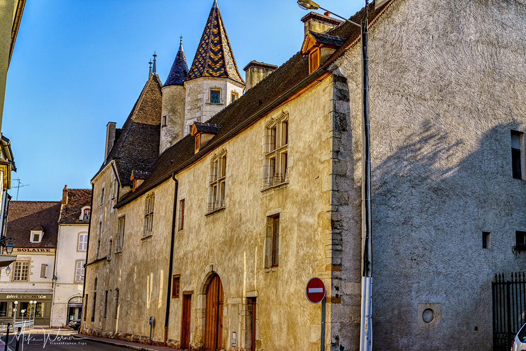 Old buildings in Beaune city centre