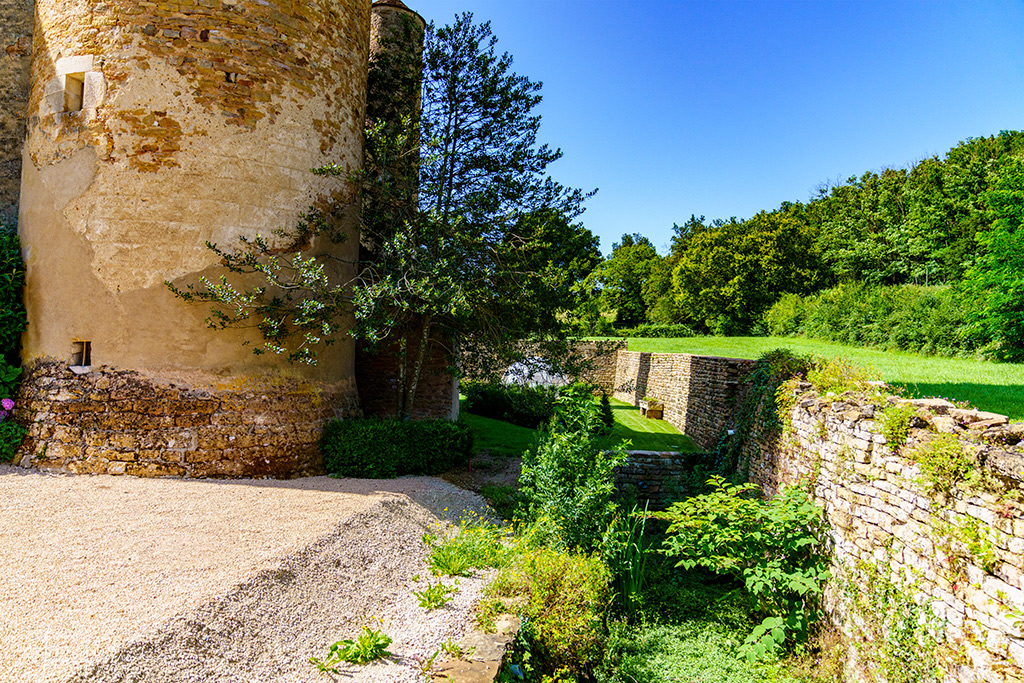 Former moat of the Chateau de Balleure