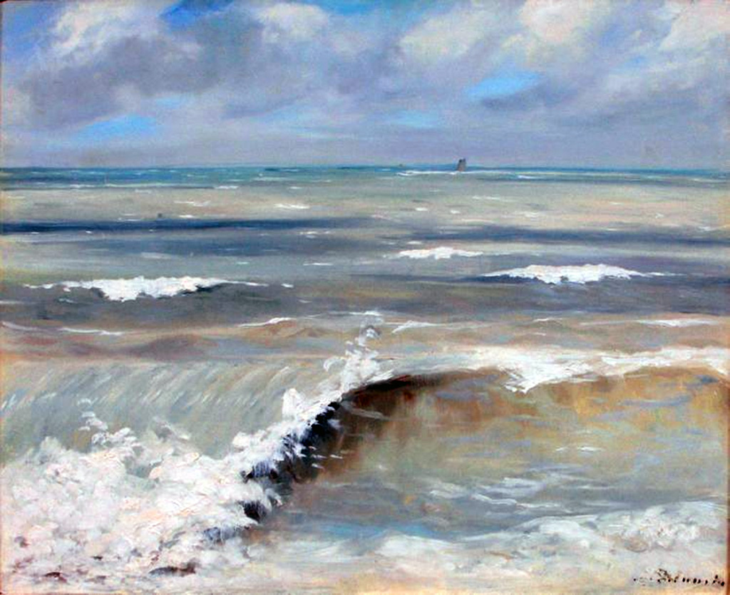 1880 - Jacques-Emile Blanche - Rolling Waves close to Dieppe
