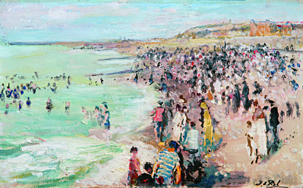 1910 - Jacques-Emile Blanche - The Beach at Dieppe