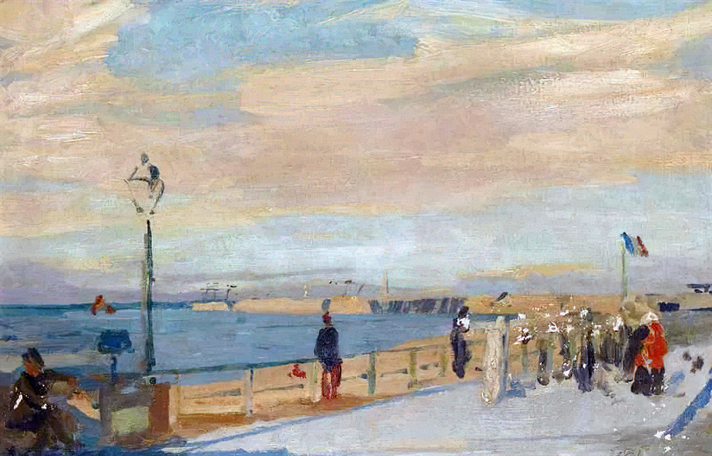 1930 - Jacques-Emile Blanche - Dyke in Dieppe
