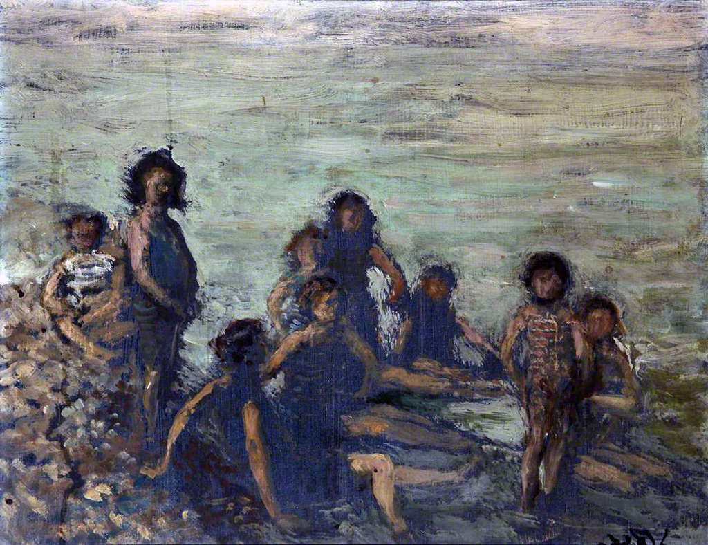 1934 - Jacques-Emile Blanche - Children Bathing, Dieppe