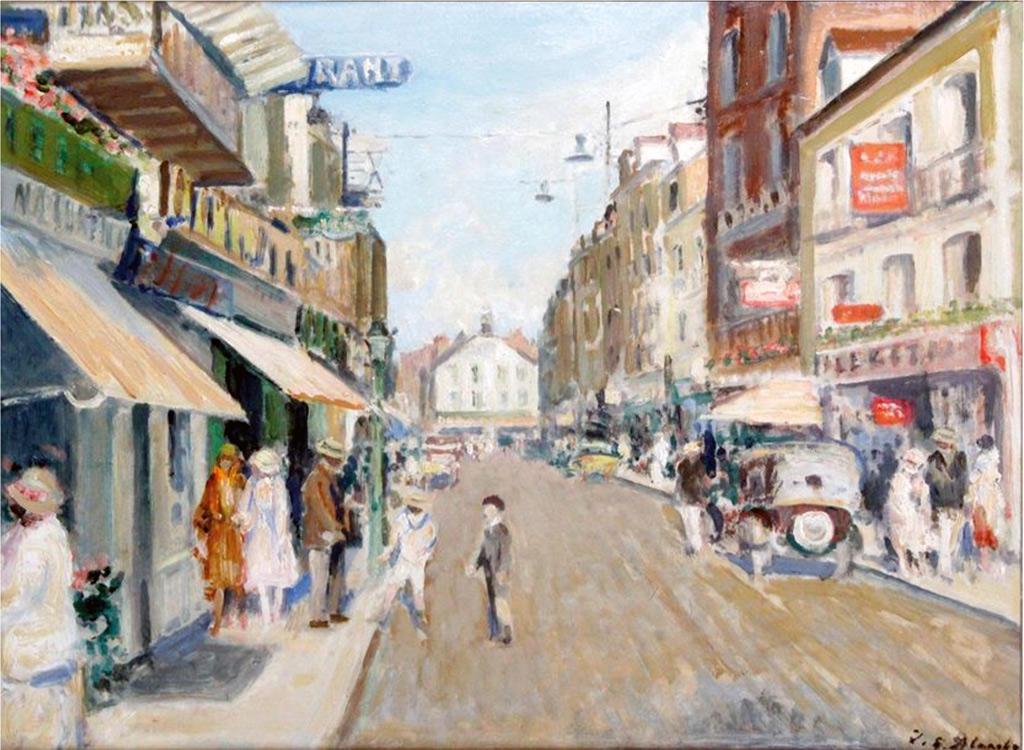???? - Jacques-Emile Blanche - Rue de la Barre at Dieppe