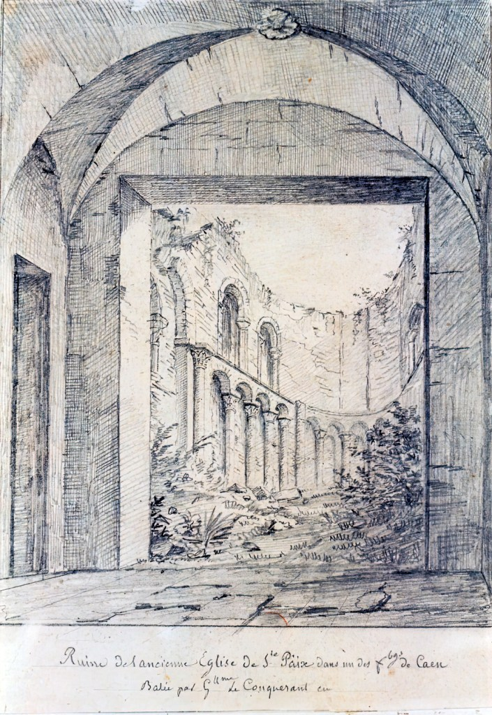 1822 - de Jolimont - Ruin of the old Church of Ste Paix in Caen, built by William the Conqueror