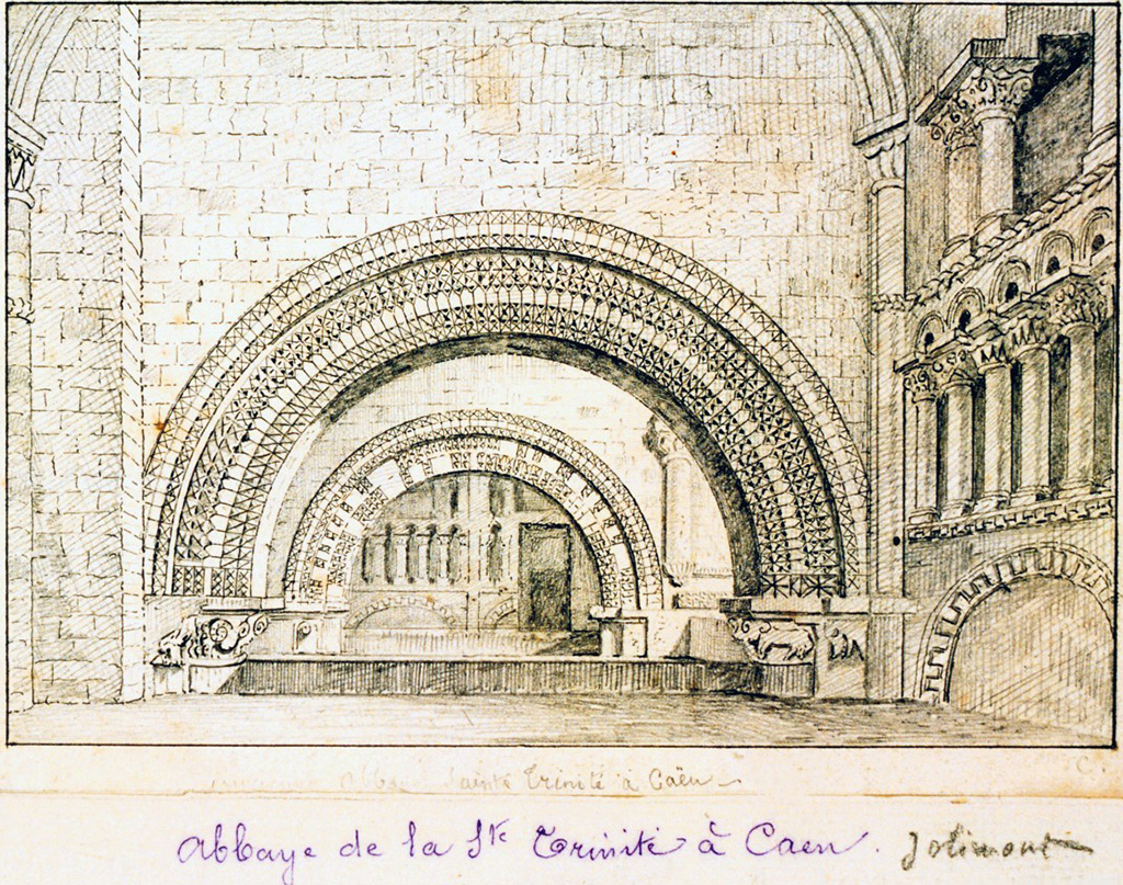 ???? - de Jolimont - Abbey of the Holy Trinity in Caen. View of a semicircular arch