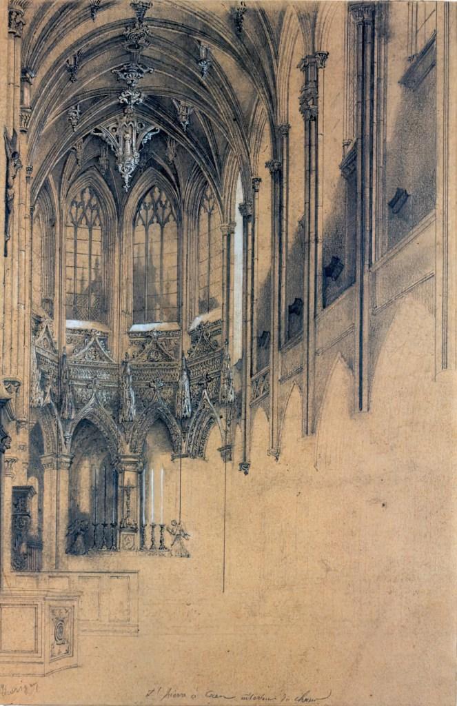???? - Thorigny - St-Pierre in Caen. Inside the choir