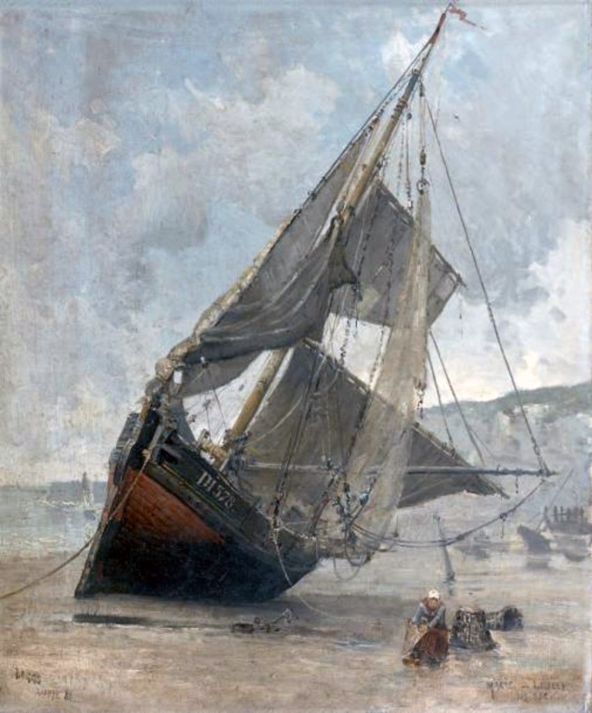 1880 - Frank Myers Boggs - Marie-Louise washed up on the beach of Dieppe
