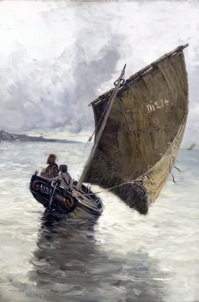 1881 - Frank Myers Boggs - Fisher boat at Sea by Dieppe