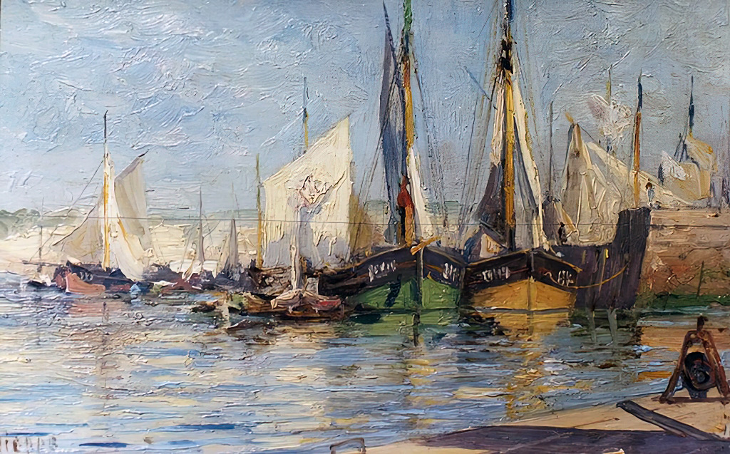 ???? - Alexey Petrovich Bogolyubov - Morning in Dieppe Harbour