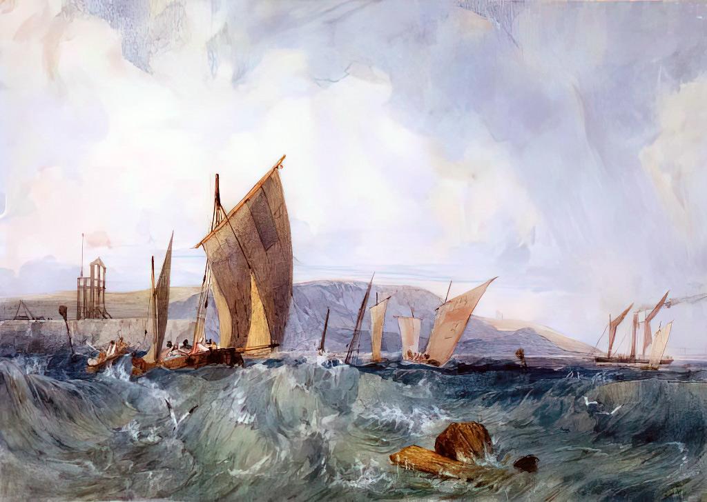 ???? Richard Parkes Bonington - Navigation off Dieppe