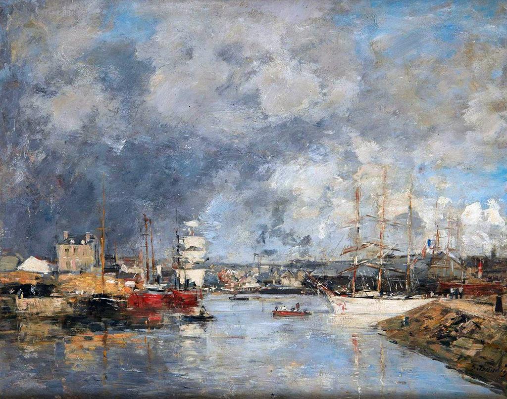1888 - Eugene Louis Boudin - The Port of Dieppe