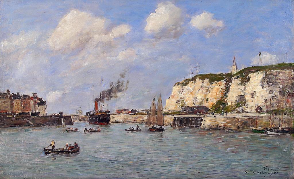 1890 - Eugene Louis Boudin - Dieppe Port Entry