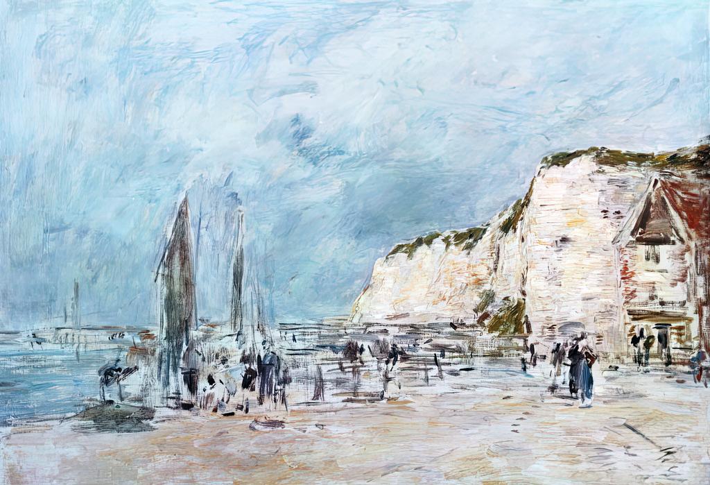 ???? - Eugene Louis Boudin - Dieppe, the cliffs of Pollet