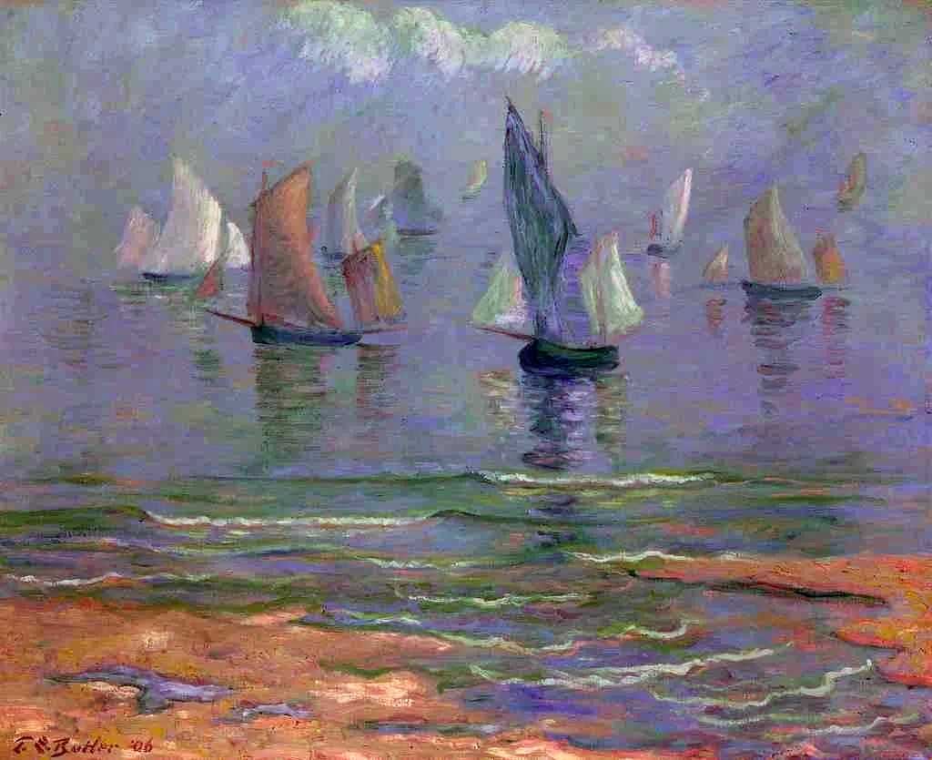 1906 - Theodore Earl Butler - Sailboats at Dieppe