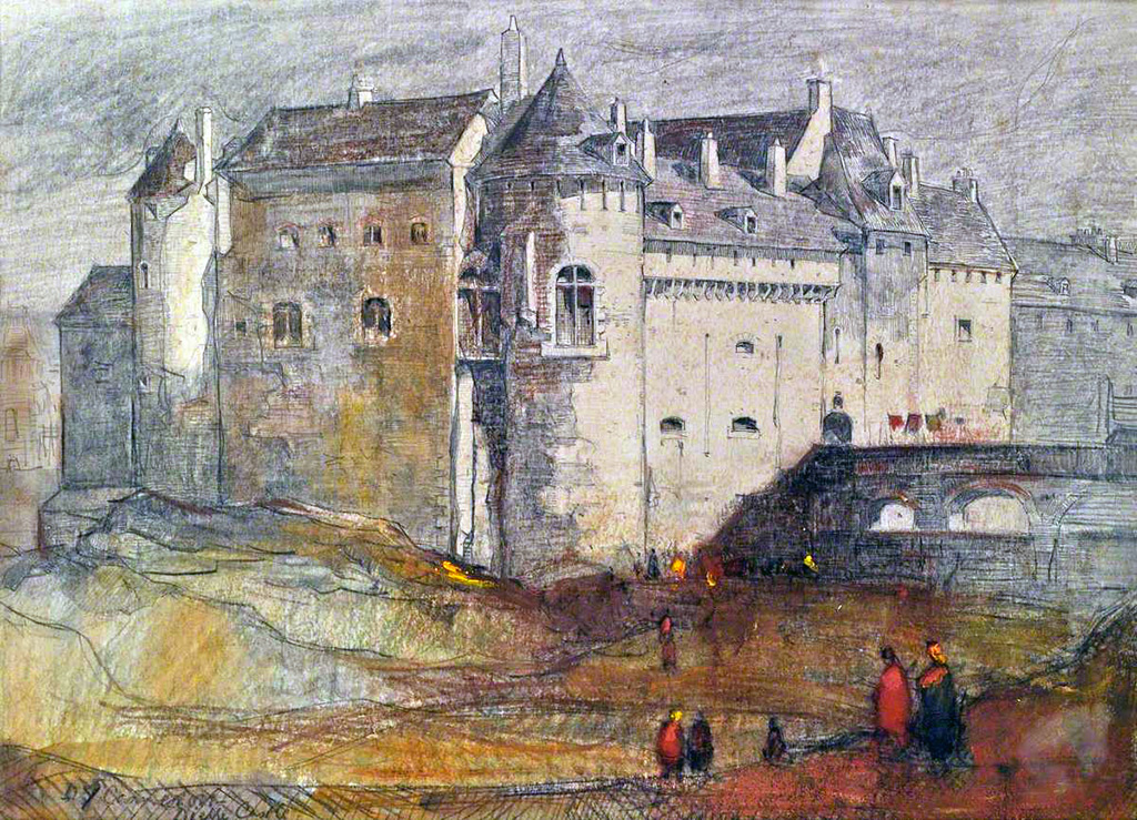 1896 - David Young Cameron - Dieppe Castle