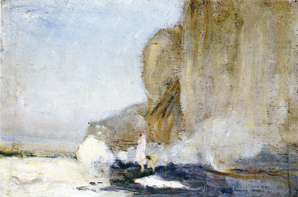 1894 - Charles Conder - Figures on a Rocky Promontory, Dieppe